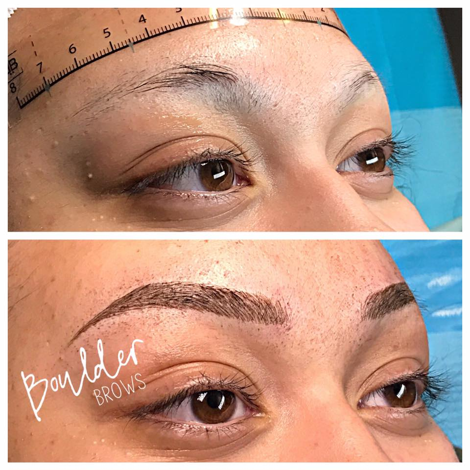Top:  Natural (Alopecia Client)  |  Bottom: After Microblading
