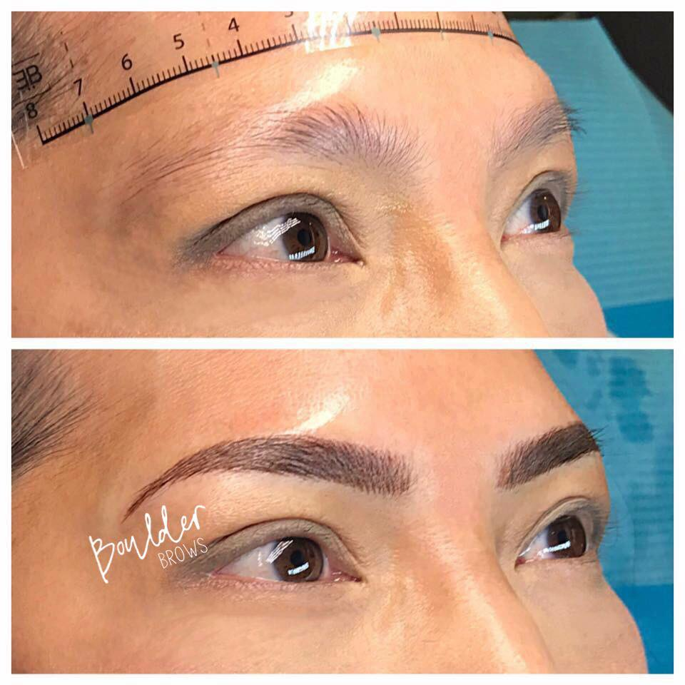 1ST MICROBLADING SESSION   Top: Before  |    Bottom: After