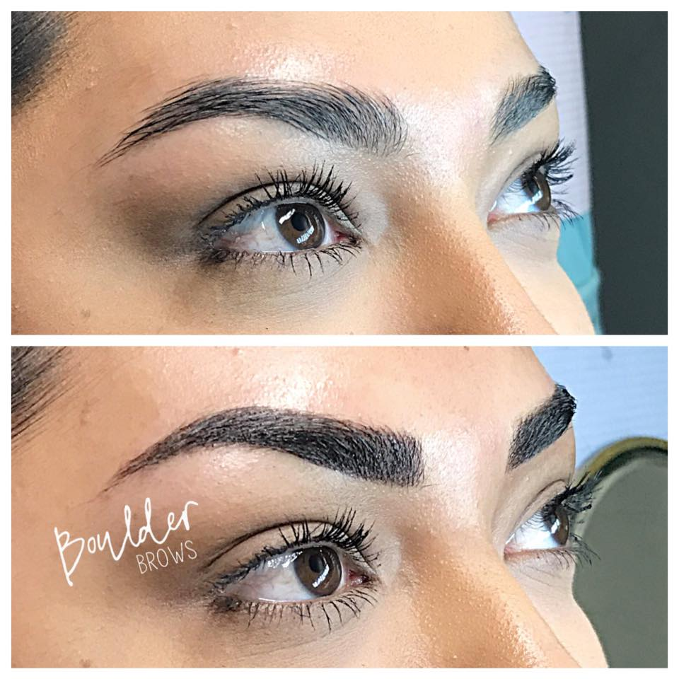 Top: Before   |    Bottom: After Microblading/Shading