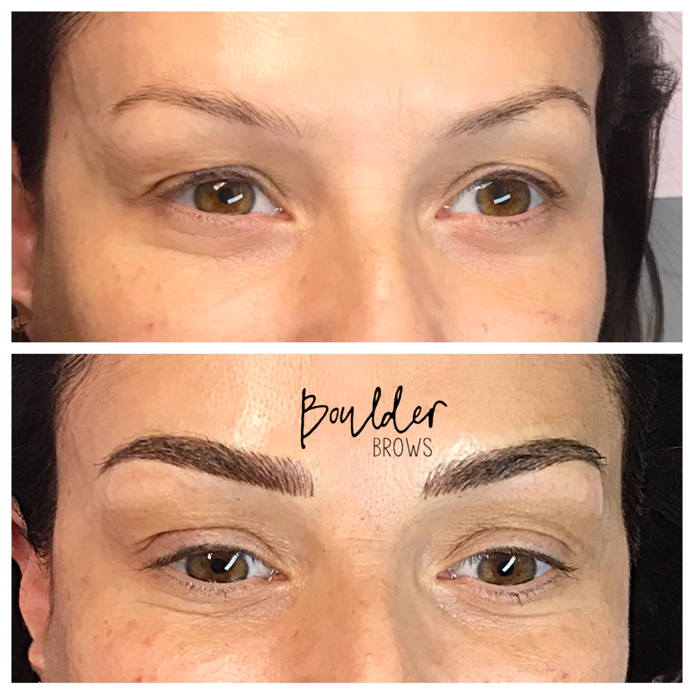 Top: Before  |  Bottom: After Microblading