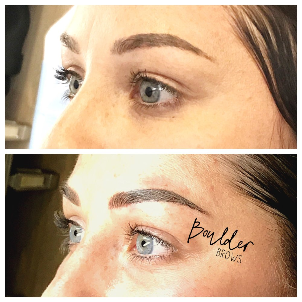 Top: Healed After 1st Session  |  Bottom: After Microblading Touchup