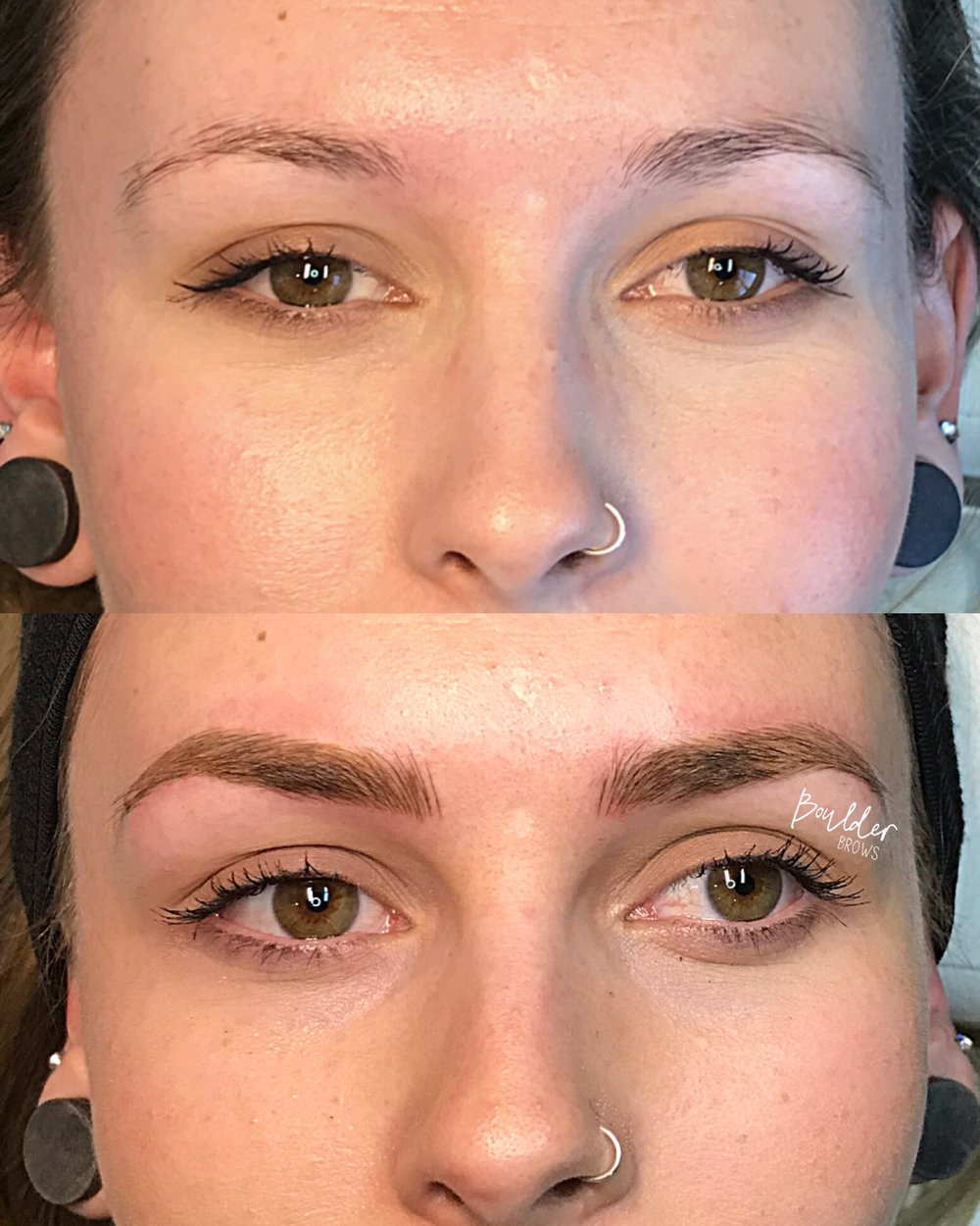 2ND MICROBLADING SESSION  BY JESS Top: Healed After 1st Session | Bottom: Immediately After Touchup