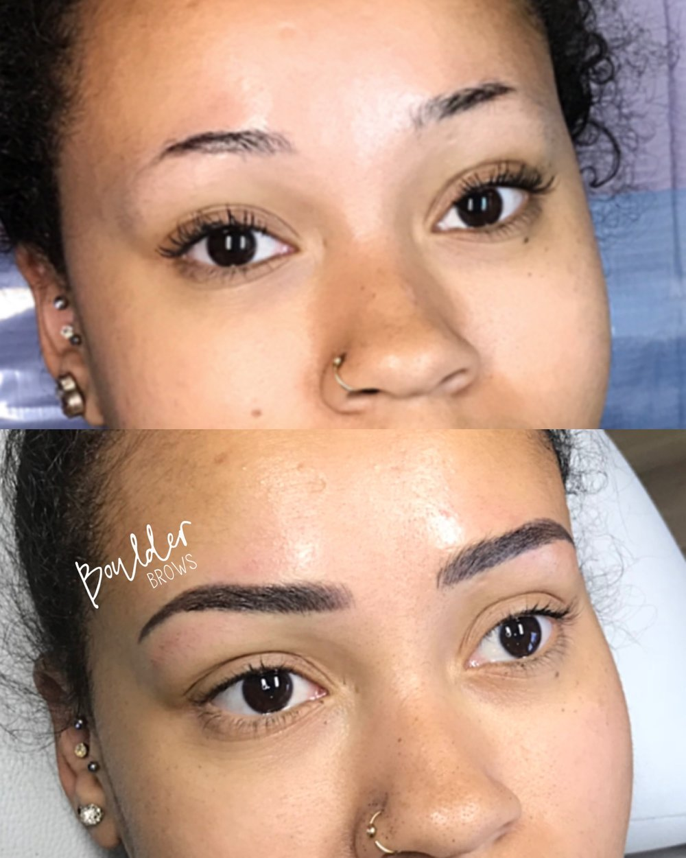 MICROBLADING PROGRESSION  BY JESS Top: Before | Bottom: YTD