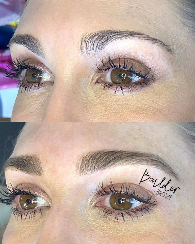 1ST MICROBLADING SESSION  BY EMILY Top: Before | Bottom: After