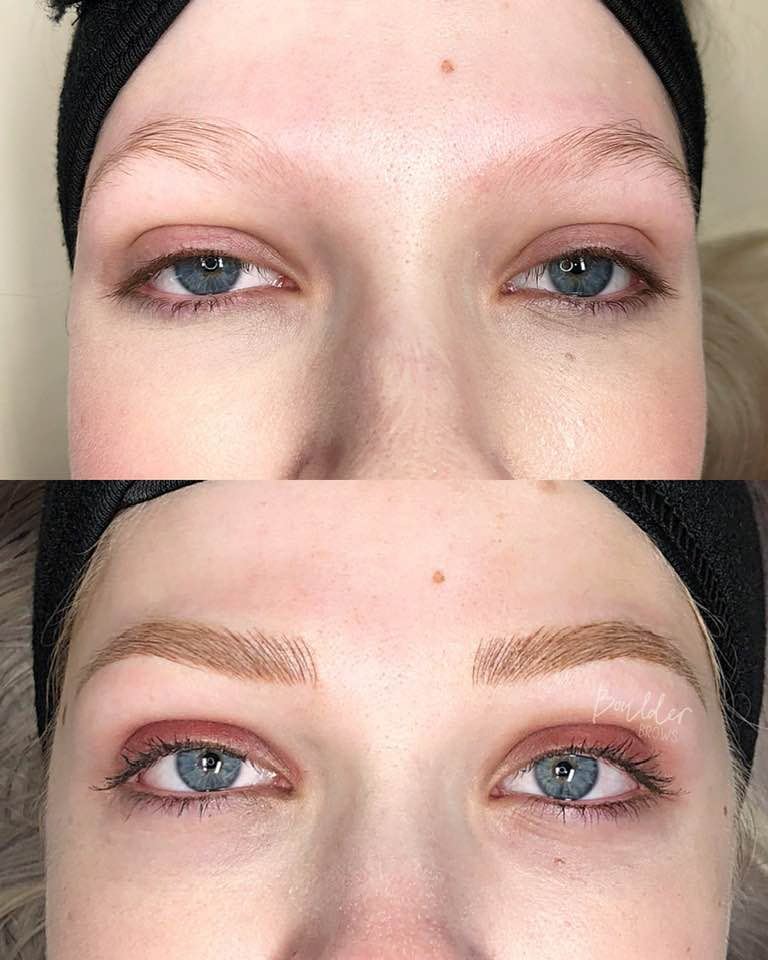APPRENTICE WORK  Top: Before | Bottom: After Microblading