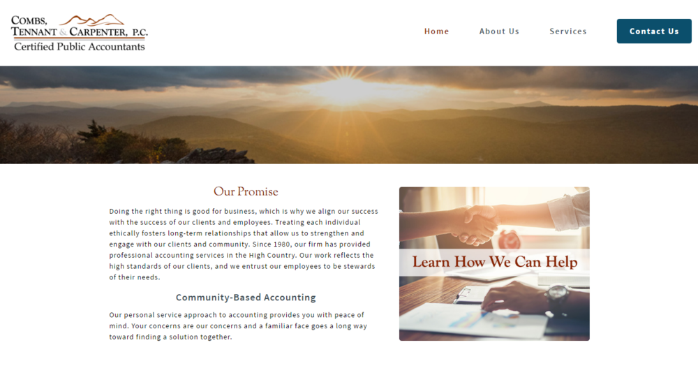 Home Page - Warm and inviting, with clear calls to action