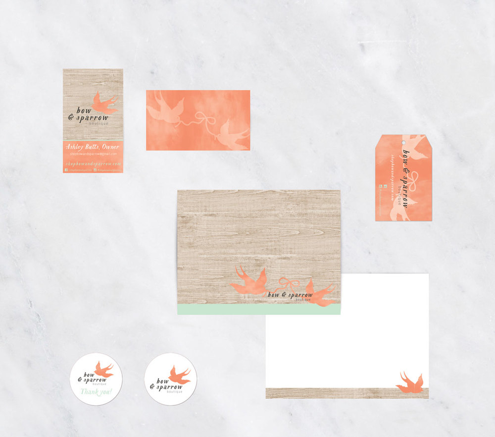 Bow-and-Sparrow-Stationery