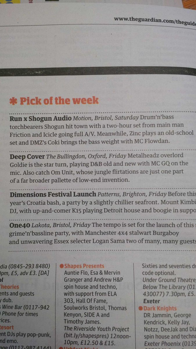 The Guardian pick of the week. 2015.