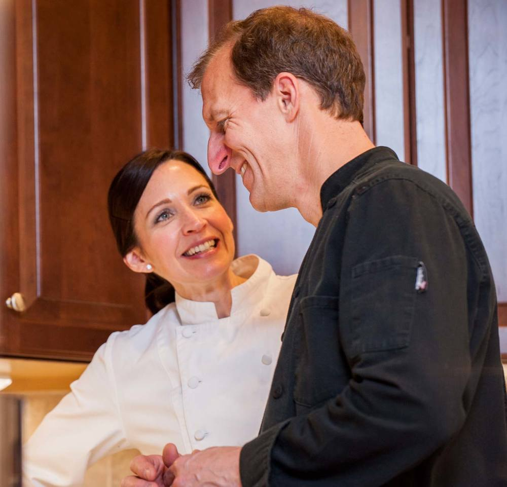 Chef Melissa Wieczorek and Chef Theo Petron, owners of Zest Culinary Services