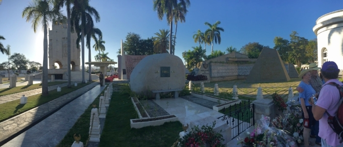 Jose Marti on left (tower) Fidel center (big rock)