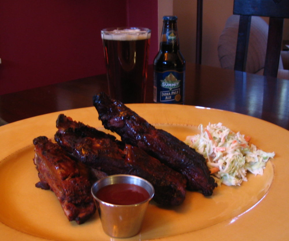BBQ Ribs glazed with IPA Sauce