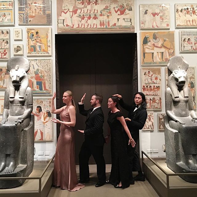 You obviously can't see us cause we blended in so seamlessly 👀 Last night at @metmuseum #gala with fun friends. #Egyptian #TheMet #funtime #eveninglook #style #ootd #look #instagood #instafun #nyc #madeinNYC