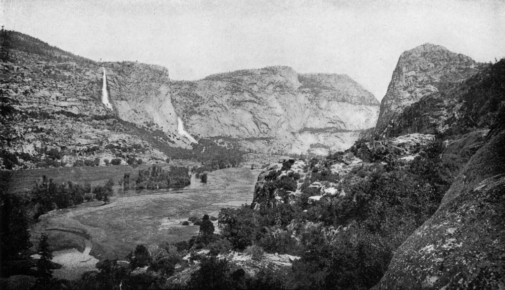 Hetch Hetchy from Surprise Point before the hideous dam was built