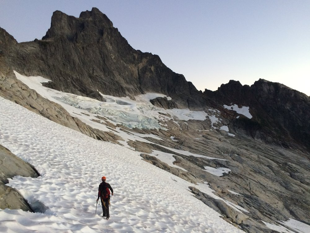 Early morning approach to Mount Triumph