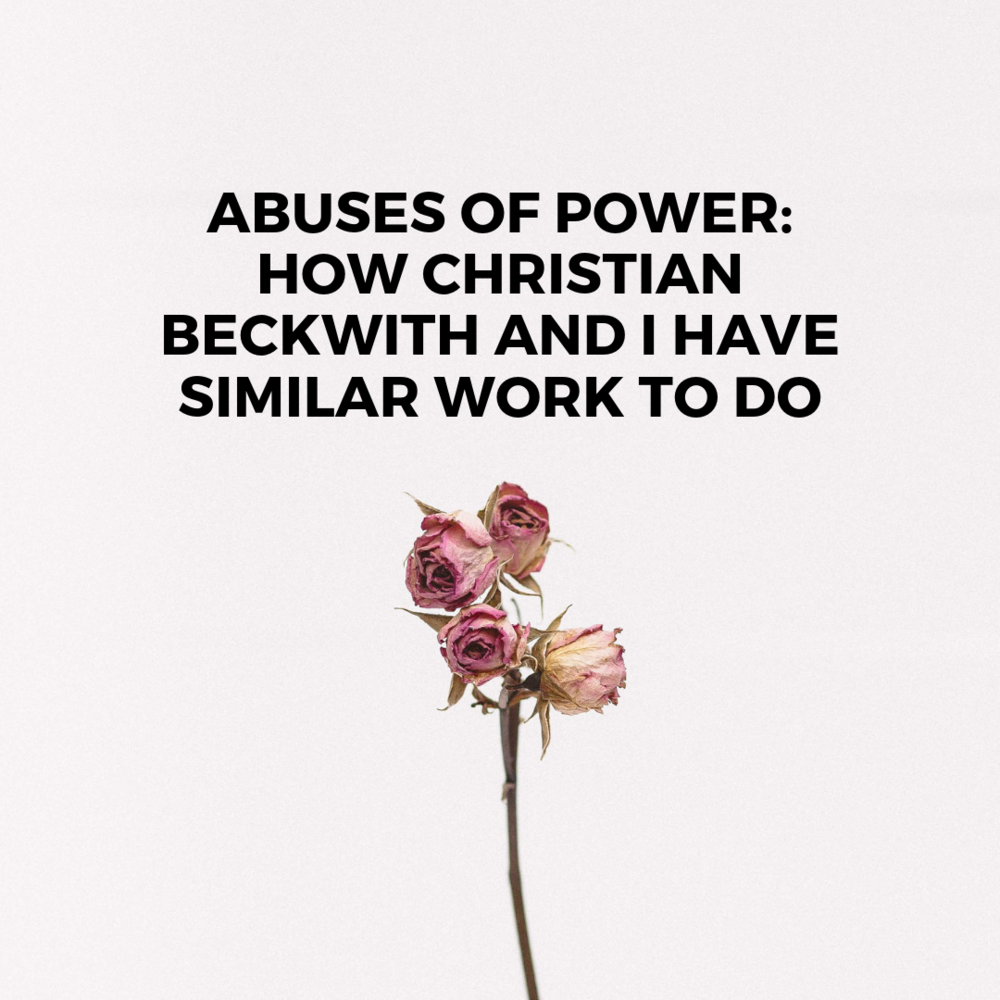 Abuses of Power: How Christian Beckwith and I Have Similar Work to