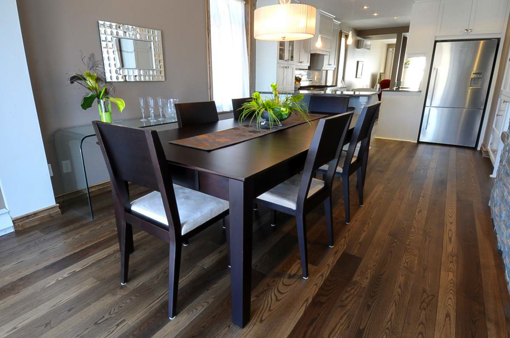 stained ash dining room hardwood flooring.jpg