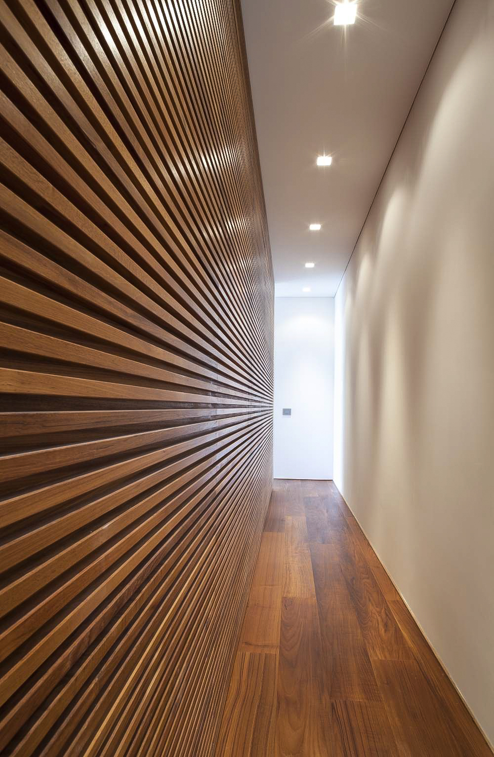 stained birch wall and wide plank floor.jpg