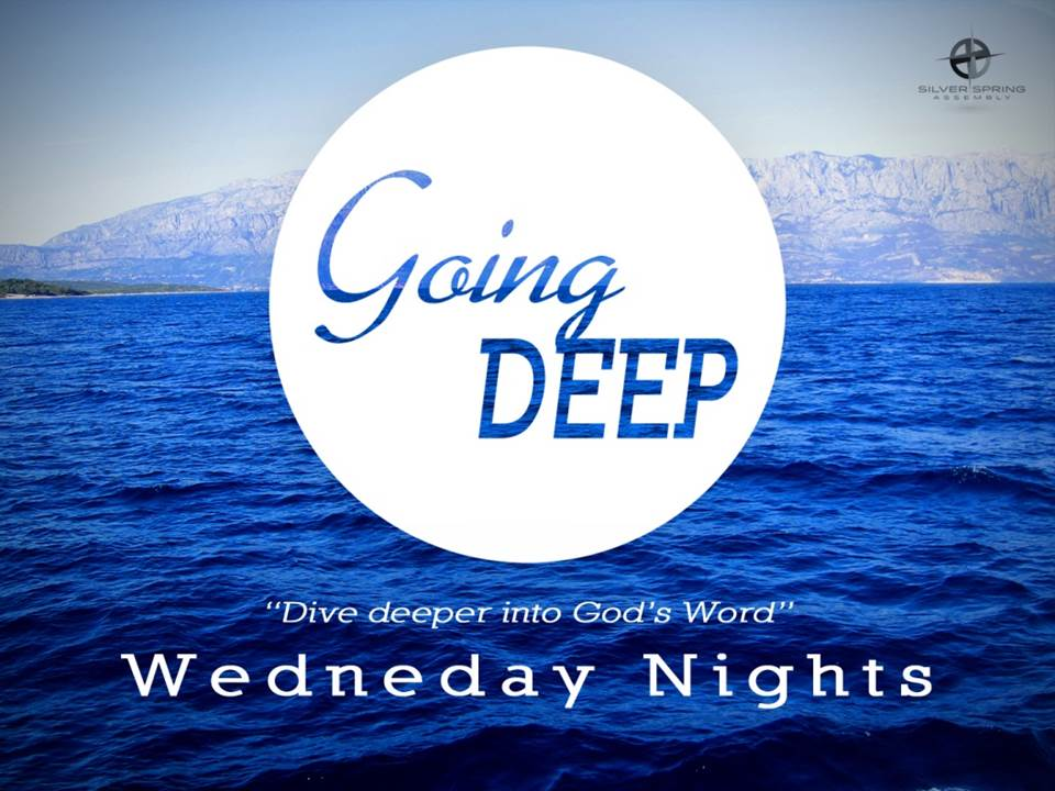 6:00 pm Supper7:00 pm Bible Study  -