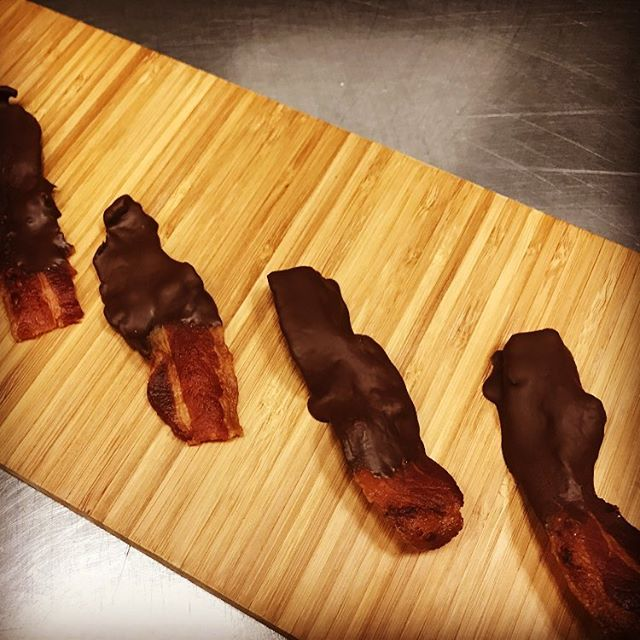 Choco bacon anyone? Great in a raging skillet play or kitchen or in your tummy! #ragingskillet #theragingskillet #chefrossi #chefrossinyc #sexybacon #piggyporn