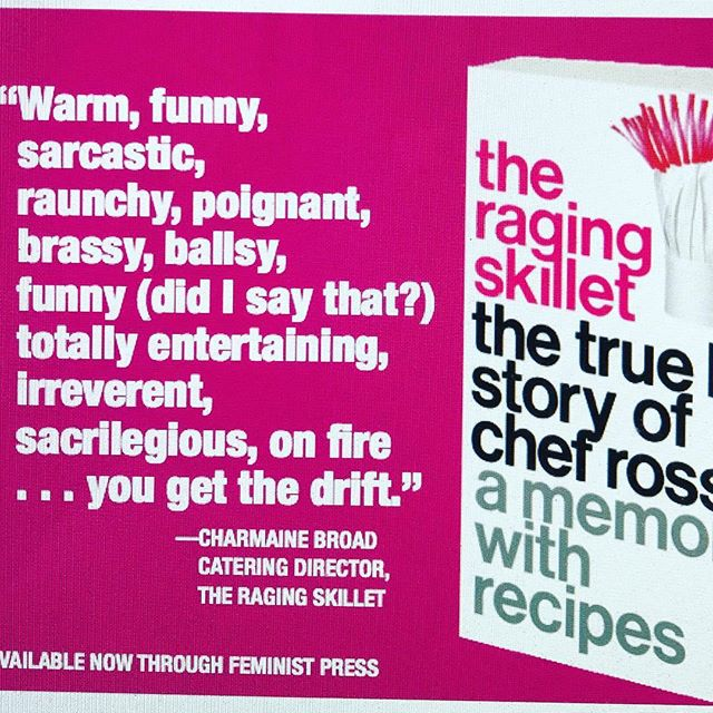 Thank you Charmaine you really know how to talk to a girl xx @charmyspics #ragingskillet #theragingskillet #chefrossi #chefrossinyc @feminist_press @transformationtalkradio thank u drewsky! #charmainebroad