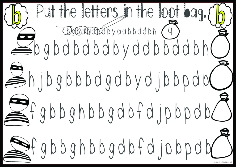 letter b and d confusion sheets - preschool hand rhyme literacy ...