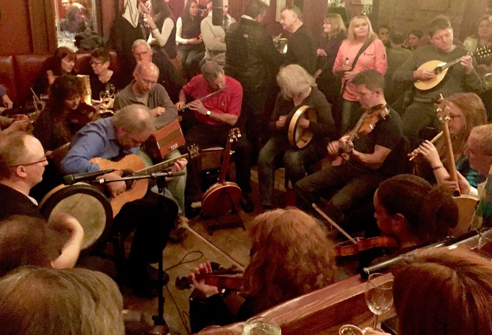 Live Irish music at the  GALWAY ARMS  every Tuesday, Wednesday, Thursday and Sunday at 8 pm f  eaturing the finest traditional Irish musicians from all over.   Sláinte!