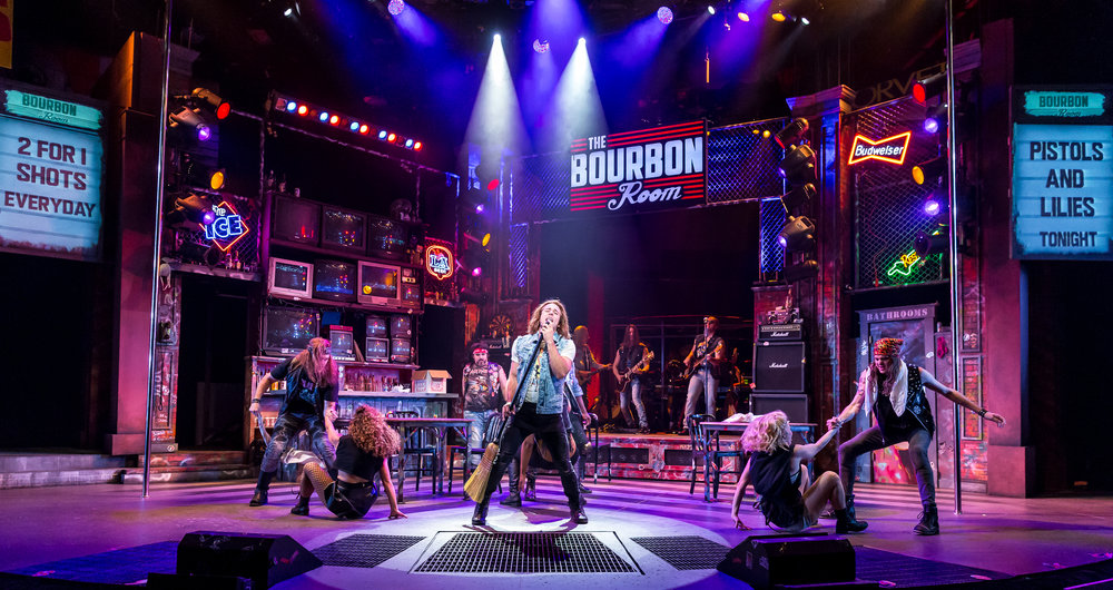 Russell Mernagh and Rock of Ages Ensemble at Drury Lane through October 15th