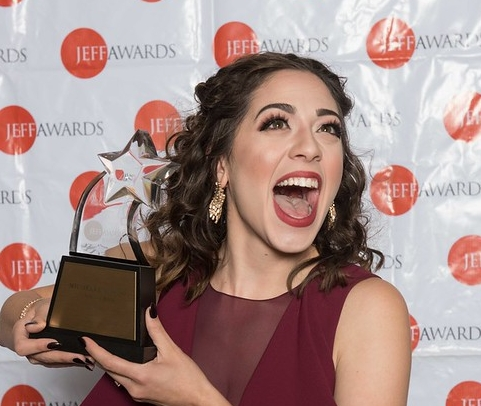 "2017 Equity Jeff Award recipient Michelle Lauto (Actress in a Revue for ""Spamilton""). Ron Keaton covered it all in a letter on our De Usuris blog. Photo