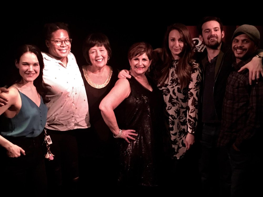 Order's Up! The TERRIFIC CAST of  Refuge Theatre's The Spitfire Grill  rocked the house at Monday Night Live on April 2nd. Joining Denise and Beckie (l-r) Emily Goldberg, Nicole Michelle Haskins, Lauren Paris, Alex Christ and Gerald Richardson. Cathy McNamara and Artistic Director|Director Christopher Pazdernick were also on hand. Windy City Cafe through May 5th  TICKETS