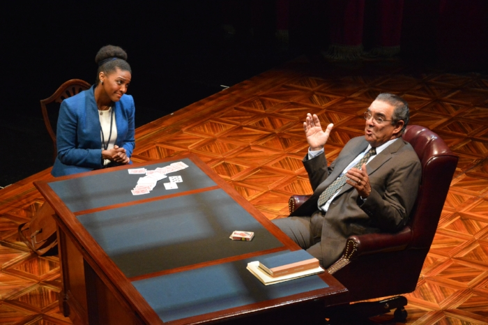 Jade Wheeler and Edward Gero in The Originalist - Photo by Gary W Sweetman.JPG