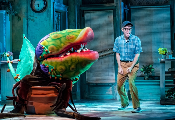 Audrey II puppeted by Matthew Sitz, Will Lidke. Photo by Brett Beiner.jpg