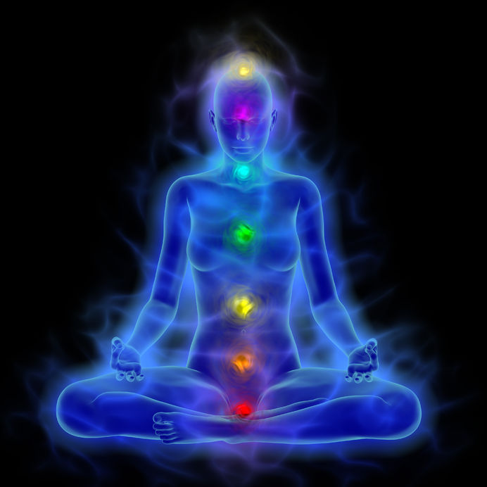 Chakras, Aura and Blue Corona of the Body