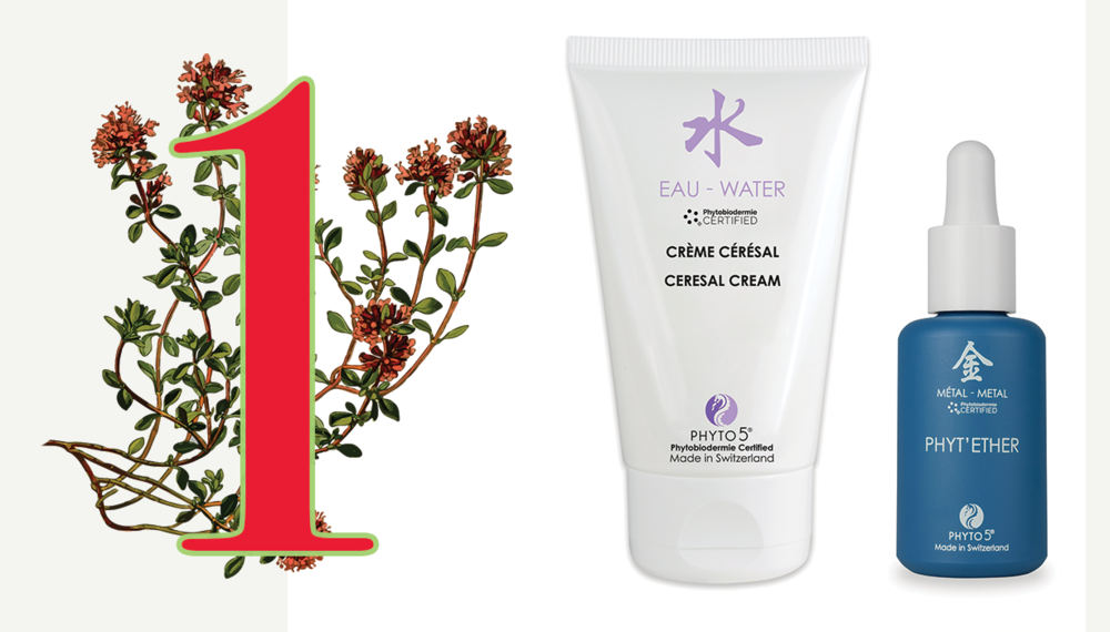 Day 1 of the Twelve Days of PHYTO5 features Water element Day Cream + Metal element Phyt'Ether serum for face, scalp and body at a 20% discount. Save $28.20.