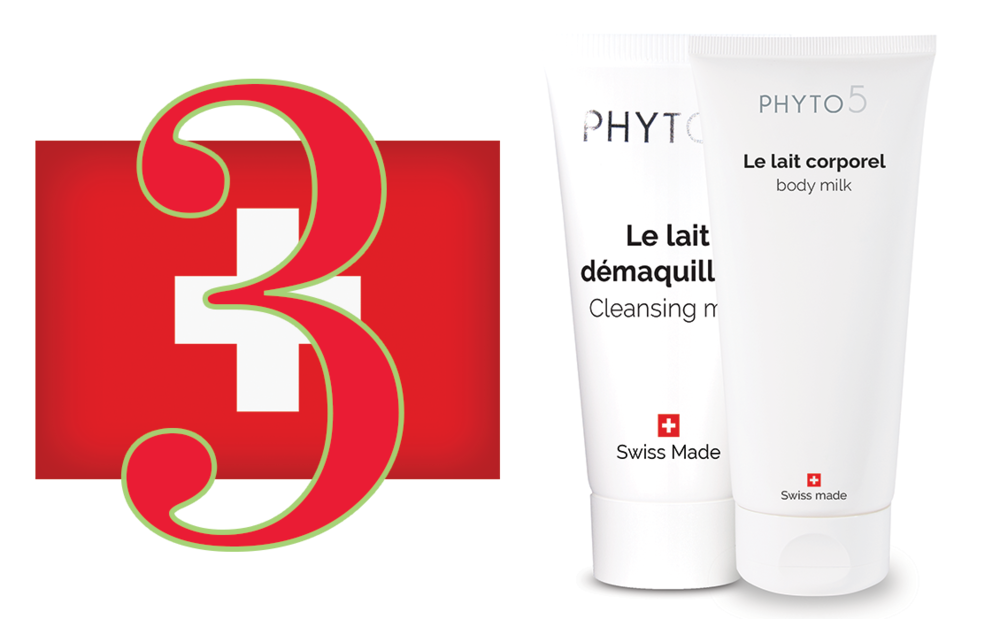 Day 3 of the Twelve Days of PHYTO5 features all Swiss-made and bestsellers Cleansing Milk + Body Milk at a 20% discount. Save $20.