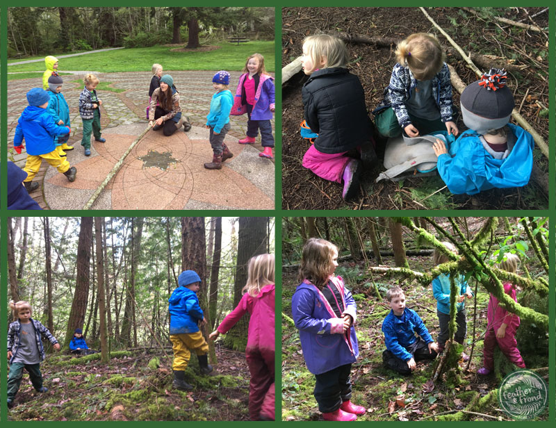 Fox Walkers in Limbo, Helping each other, getting up from a sit spot and engaging in imaginative play!