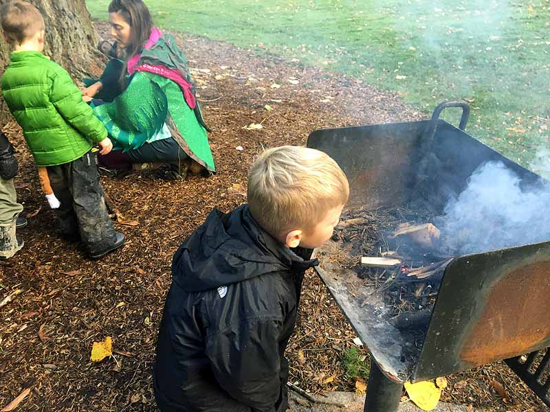 "Using ""Dragon Breath"" to help the fire"