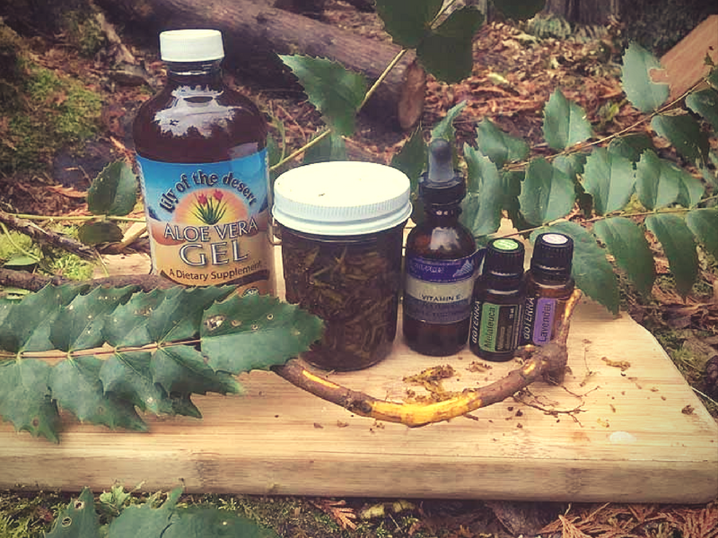 All you need is a few simple ingredients to make Oregon Grape root Hand Sanitizer