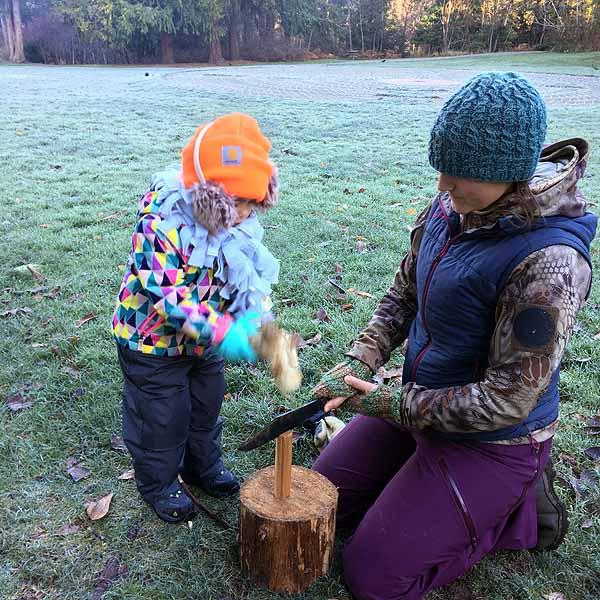 Batoning firewood