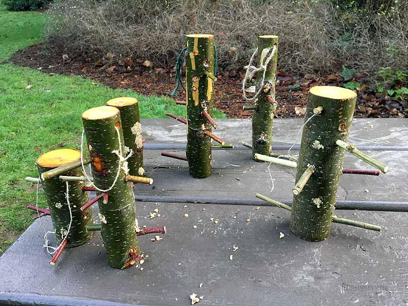 Log Bird Feeders