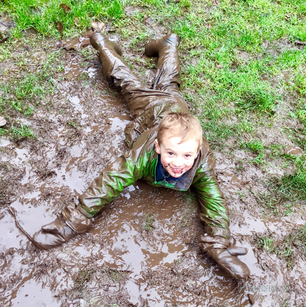 Mud monster after school!
