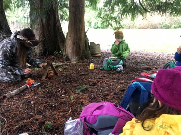 Puppet show under a cedar about cedar...