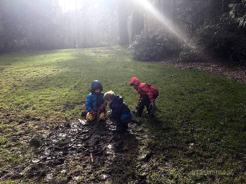 Mud play on a sunny day. . .