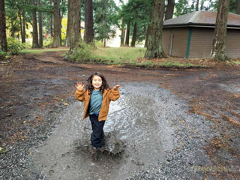 """if you wanna puddle dance, you've gotta wear your rain pants!"""