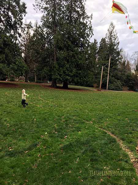 the art of kite-flying. . .
