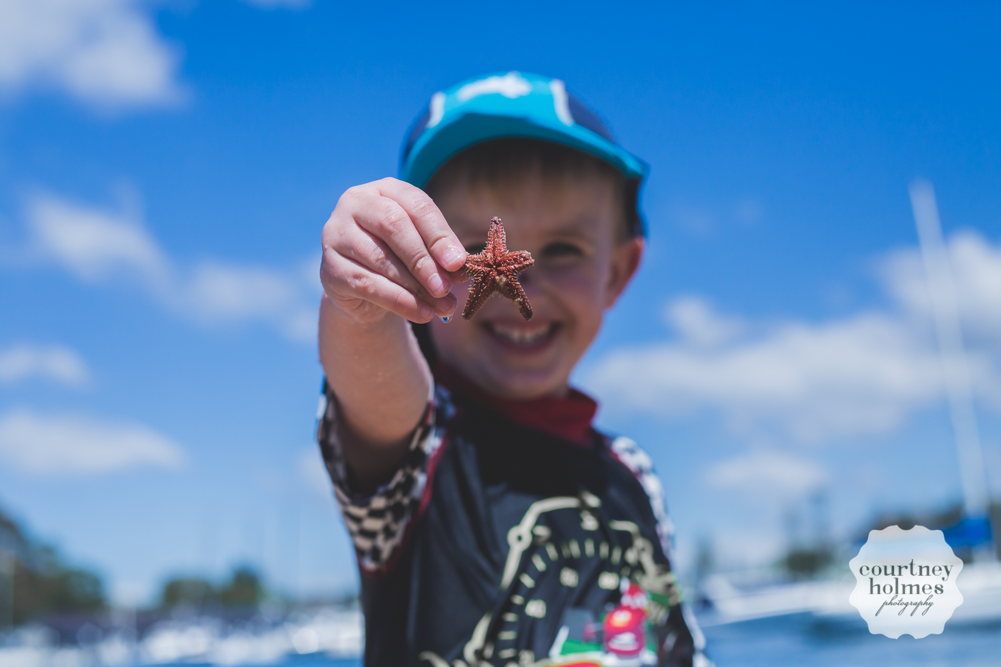 he found a starfish!