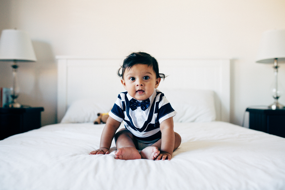 Six month old in home lifestyle photography session Sydney