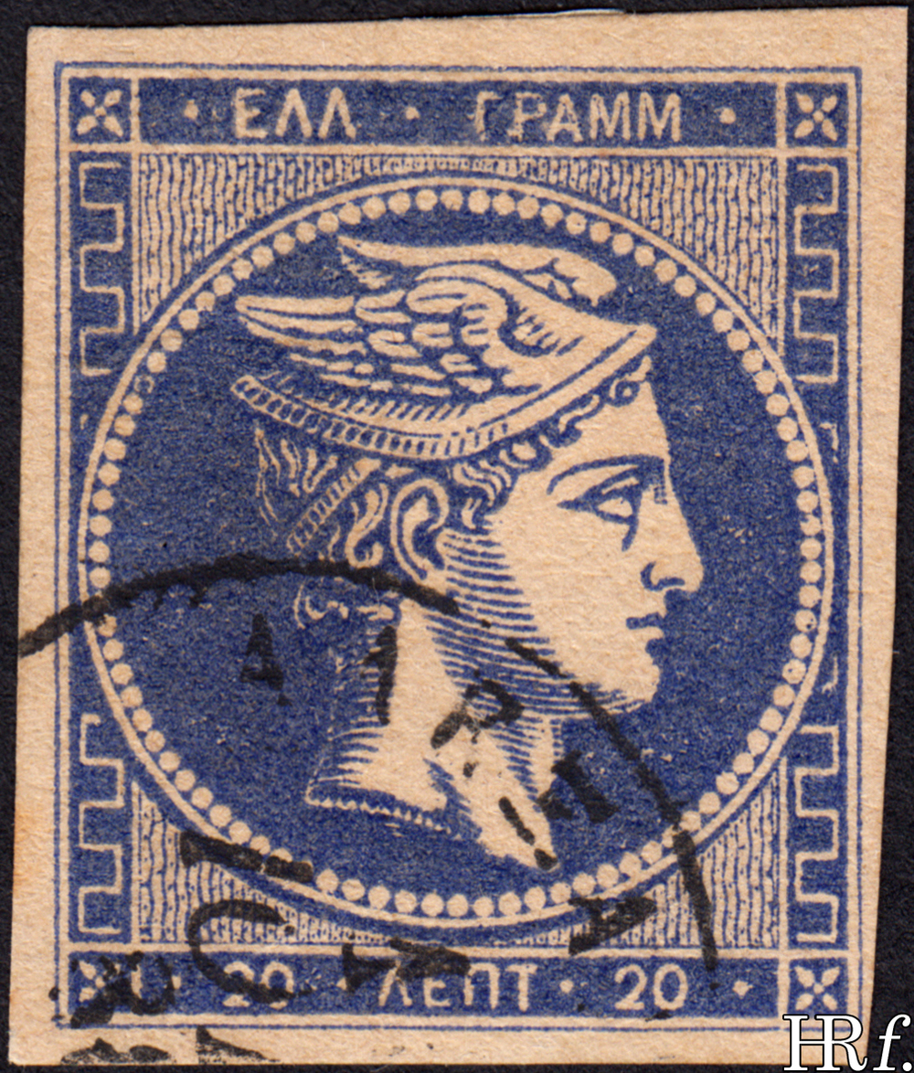 20 lepta, blue