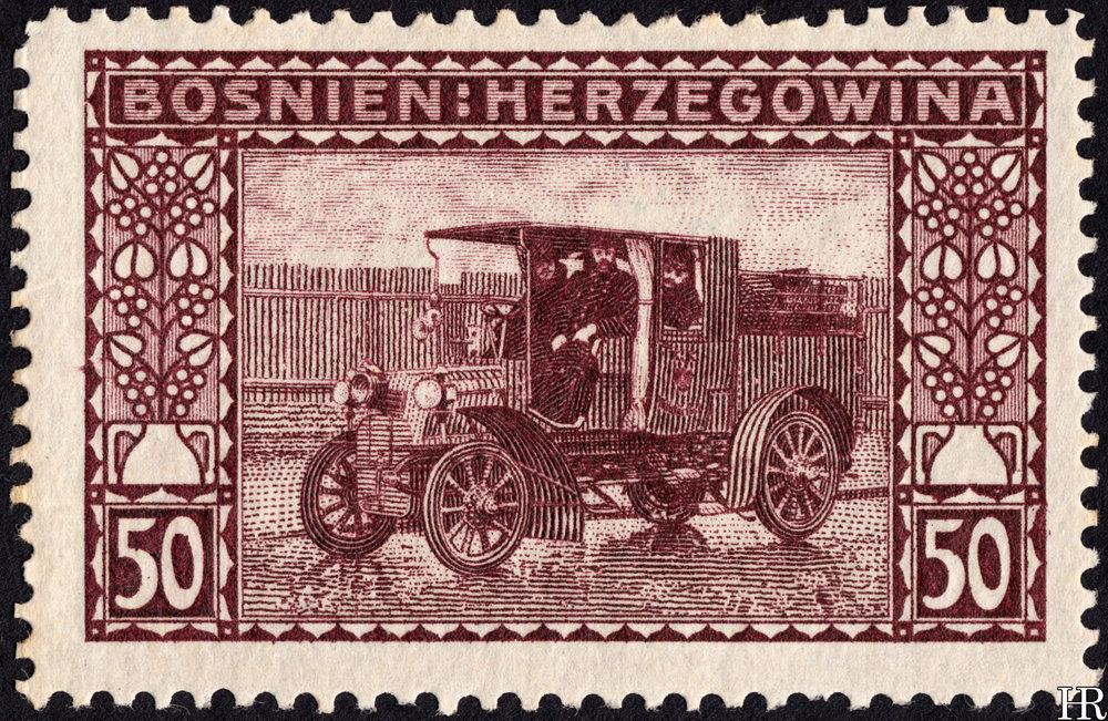"""50 heller - """"Postal Motor-Car"""""""