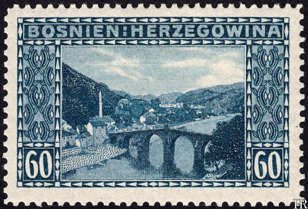 "60 heller - ""View of Konjica"""