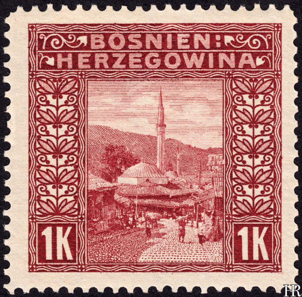 "1 krone - ""The Bazaar at Sarajevo"""